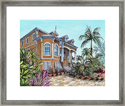 Magnolia Beach House Framed Print