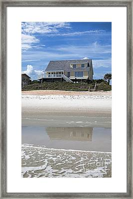 Beach House Framed Print by Kay Pickens