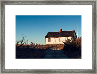 Beach House Framed Print by Lee Costa