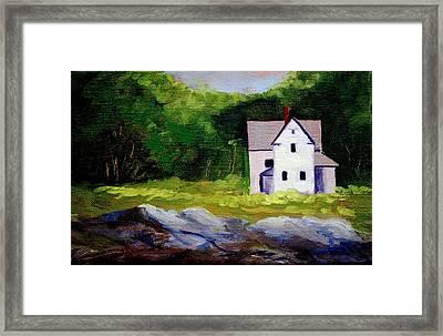 Beach House Framed Print by Nancy Merkle