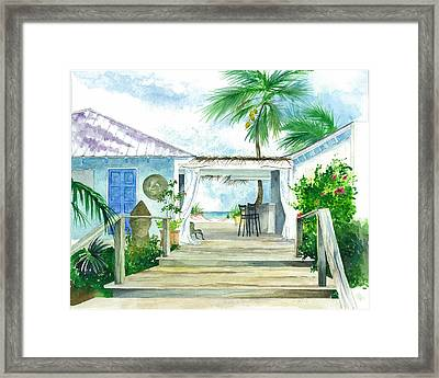 Beach House Tapas Bar Eleuthera Bahamas Framed Print