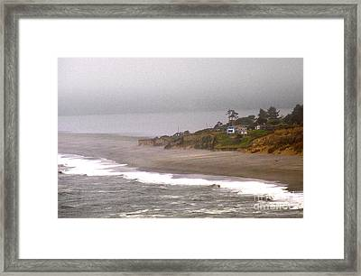 Framed Print featuring the photograph Beach House by Thomas Bomstad