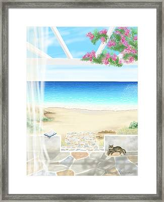 Beach House Framed Print by Veronica Minozzi