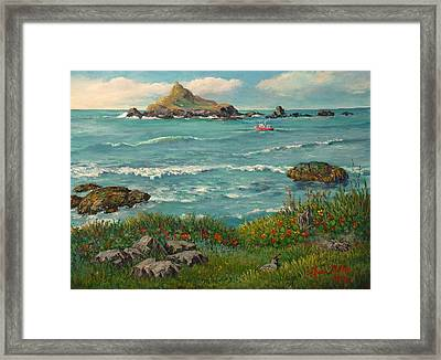 Beach House View Framed Print