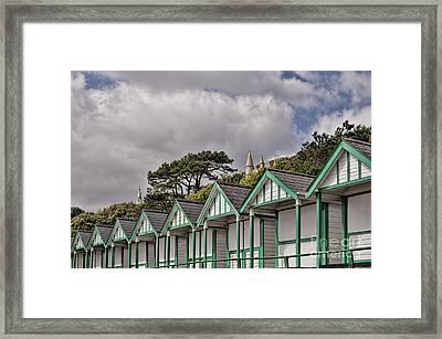 Beach Huts Langland Bay Swansea 3 Framed Print