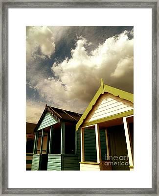 Beach Huts Framed Print by Vicki Spindler
