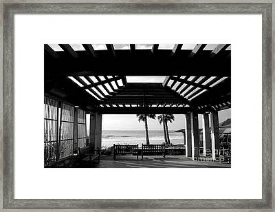 Beach In Del Mar California Framed Print by Julia Hiebaum