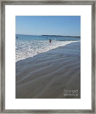 Framed Print featuring the photograph beach in Maine by Rose Wang