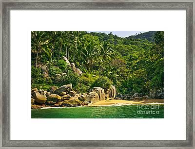 Beach In Mexico Framed Print