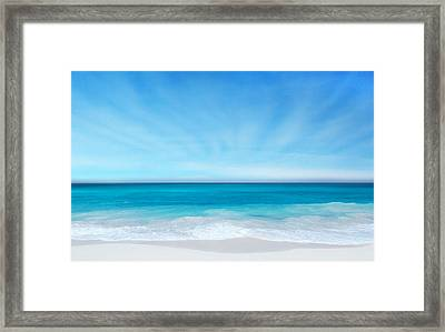 Framed Print featuring the digital art Beach In The Morning by Nina Bradica