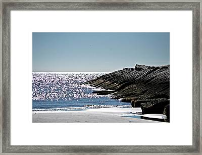 Beach Jetty Framed Print