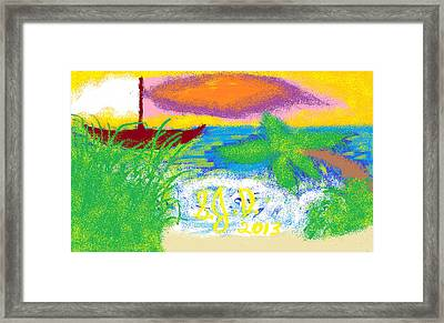 Beach Framed Print by Joe Dillon