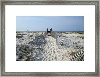 Framed Print featuring the photograph Beach by Jon Emery