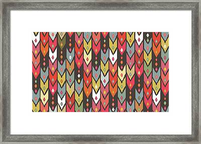 Beach Knit Ikat Arrow Framed Print by Sharon Turner