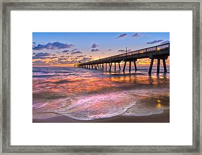 Beach Lace Framed Print by Debra and Dave Vanderlaan