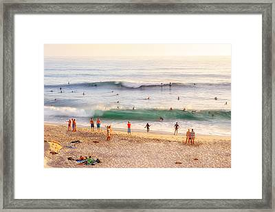 Beach Life Framed Print by Shuwen Wu