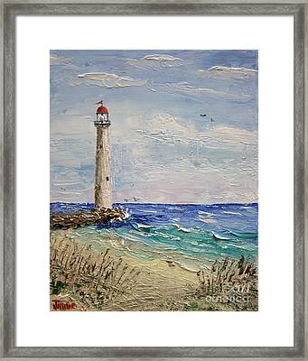 Beach Lighthouse Framed Print