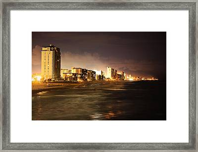 Beach Line Framed Print