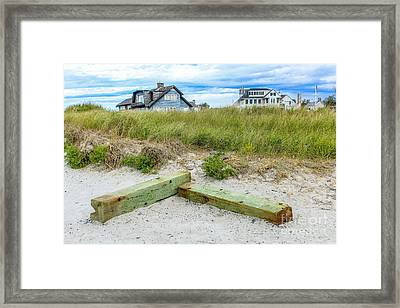 Beach Living In Maine Framed Print by Joe Faragalli