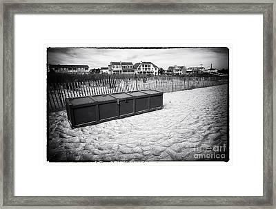 Beach Locker Framed Print by John Rizzuto