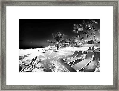 Beach Lounging Framed Print by John Rizzuto