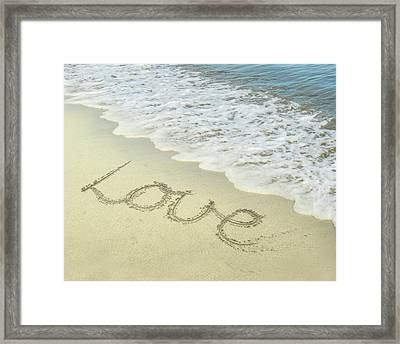 Beach Love Framed Print by Jocelyn Friis