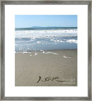 Beach Love Framed Print by Linda Woods