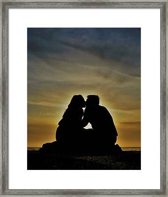 Beach Lovers Framed Print by Benjamin Yeager