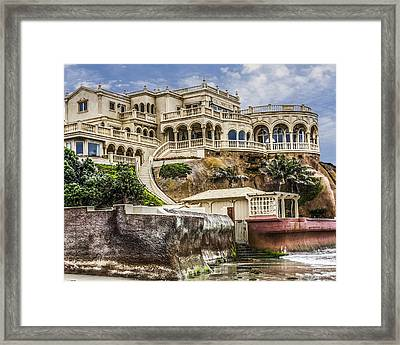00003 La Jolla Beach Mansion Framed Print by Photographic Art by Russel Ray Photos