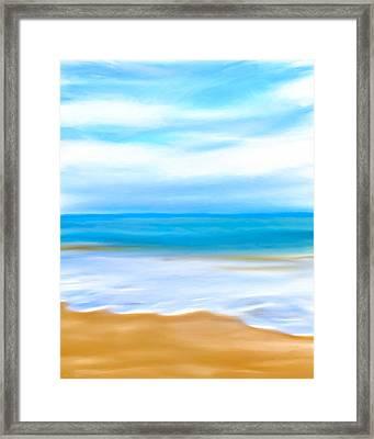 Beach Memories Framed Print