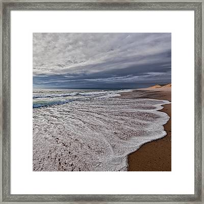 Beach Morning Square Framed Print by Bill Wakeley