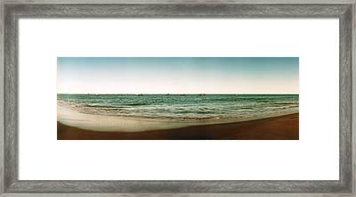 Beach, Morro De Sao Paulo, Tinhare Framed Print