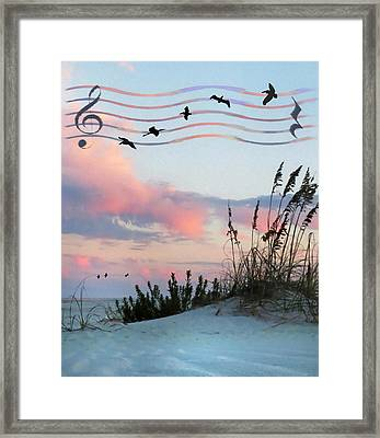 Beach Music Framed Print