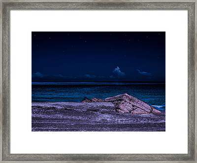 Beach Night Framed Print