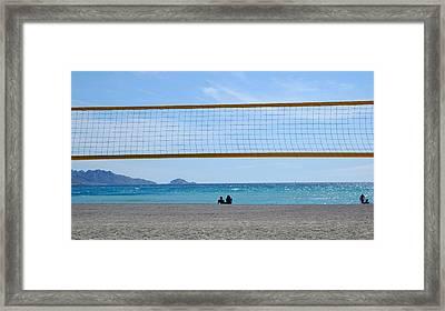 Beach Of Marseille Framed Print