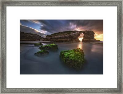 Beach Of The Cathedrals Framed Print