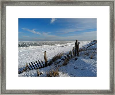 Beach On A Winter Morning Framed Print