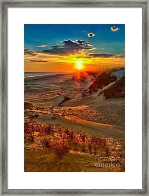 Beach On Fire - Outer Banks Framed Print