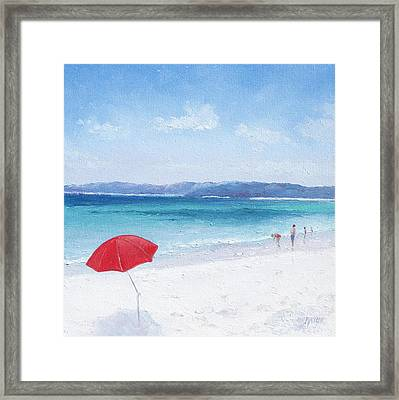Beach Paddling Framed Print