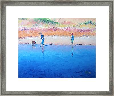 Saturday Afternoon At The Beach Framed Print