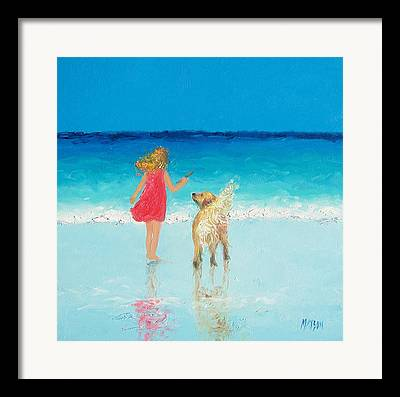 Whimsical Beach Art Framed Prints
