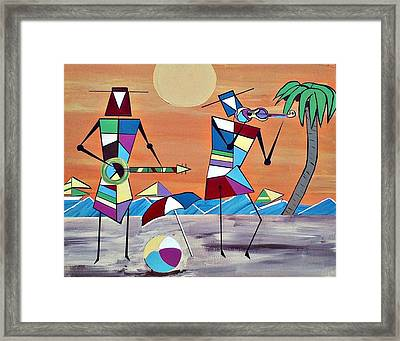 Beach Party Framed Print by Lew Griffin