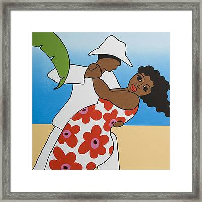 Beach Party Framed Print by Trudie Canwood