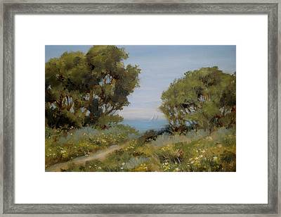 Beach Path #2 Framed Print by Tina Obrien