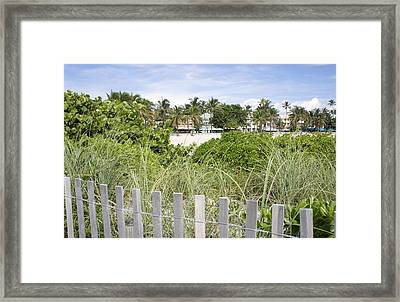 Framed Print featuring the photograph Beach Path by Laurie Perry