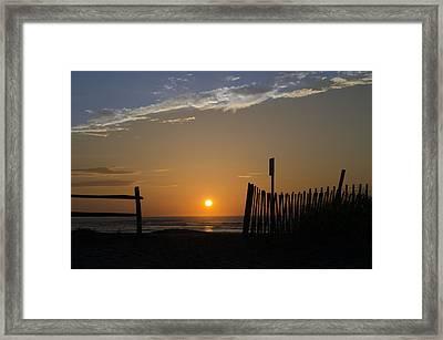 Beach Path Sunrise Framed Print by Bill Cannon