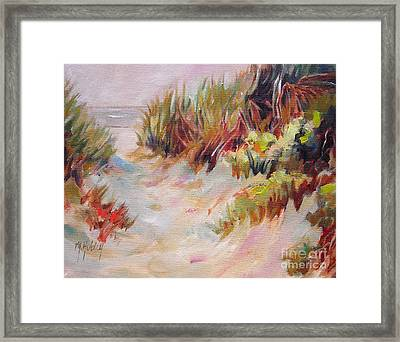 Beach Path Through The Dunes Framed Print by Mary Hubley