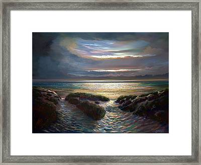 Beach Paths Framed Print by Robert Shaw