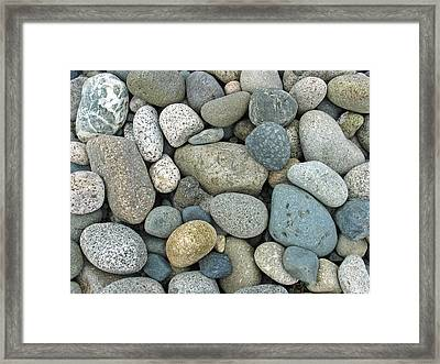 Beach Pebbles Framed Print by Gerry Bates