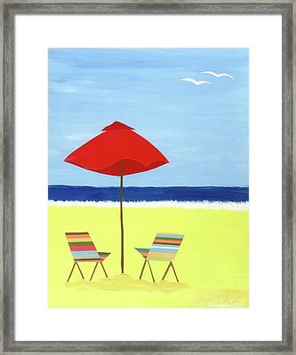 Beach Picture Framed Print by Jennifer Peck